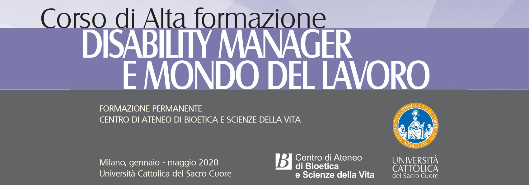 Diability manager Uni Cattolica